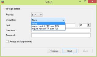 FTPbox - set up FTP info