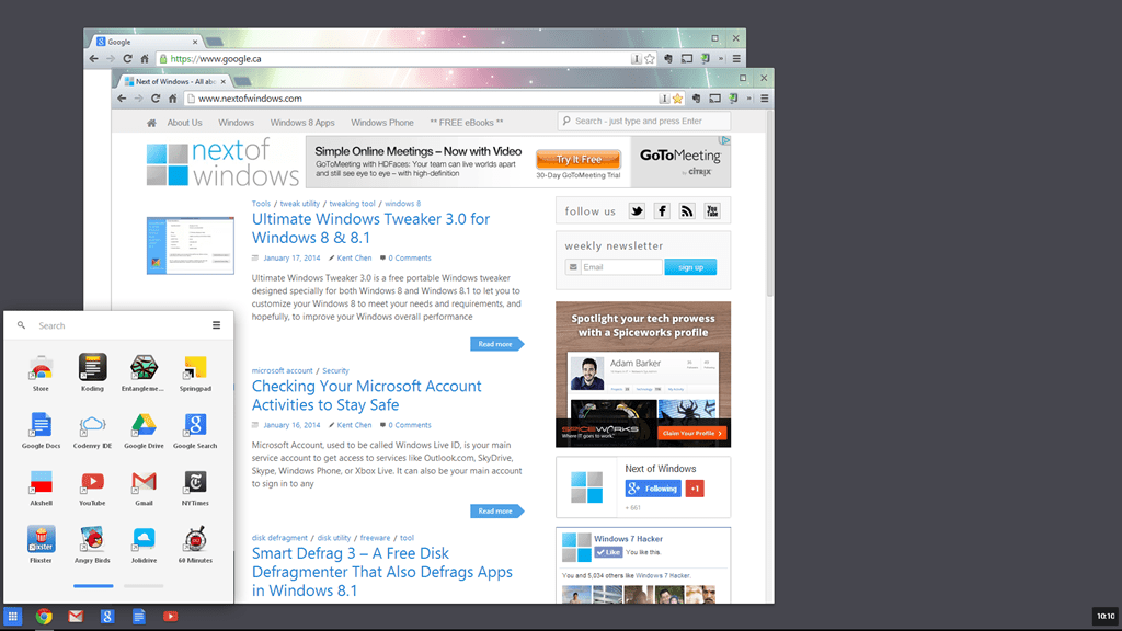 Latest Chrome 32 Launch in Windows 8 Mode Opens Up New