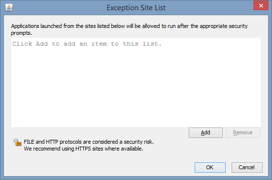Java Control Panel - Exception Site List - 2014-01-20 10_09_41