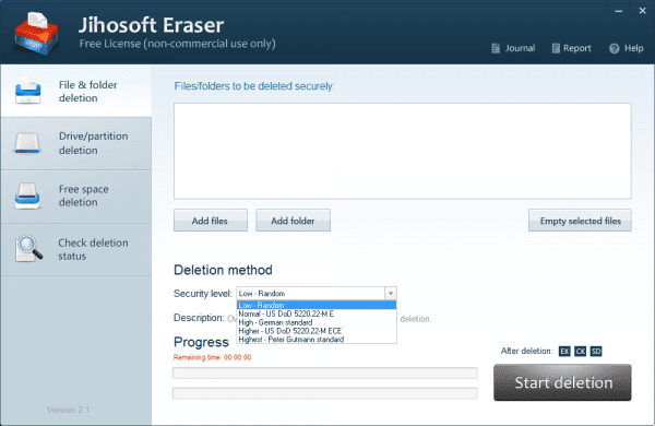 Jihosoft Eraser file and folder deletion 600x390 - Jihosoft Free Eraser to Wipe Your Sensitive Data Permanently