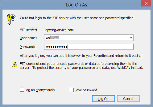 Log On As 2014 01 22 15 00 28 - Got A FTP Drive? Why Not Mapping It Onto Windows Explorer for Easy Access?