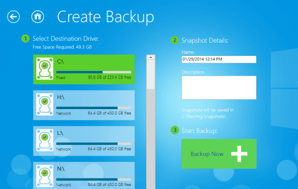 RecImg Manager create backup 600x381 - RecImg Manager to Easily Backup and Reinstall Entire Windows 8 System in Minutes