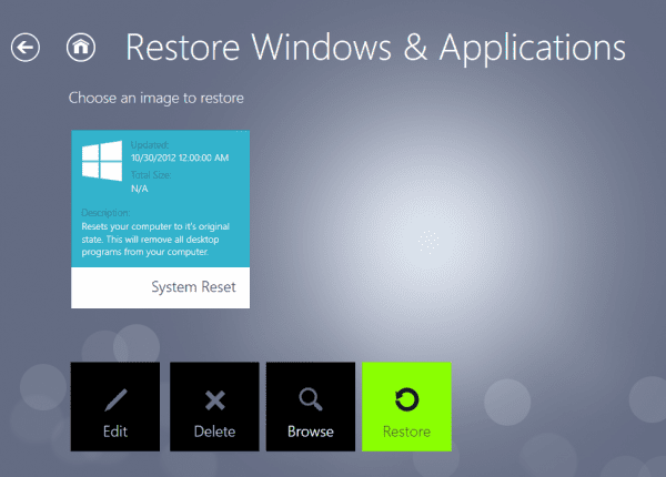 RecImg Manager restore 600x430 - RecImg Manager to Easily Backup and Reinstall Entire Windows 8 System in Minutes