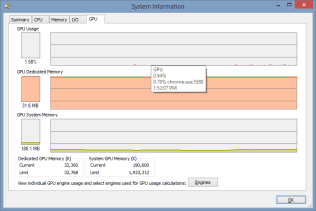 Process Explorer - System Information - GPU