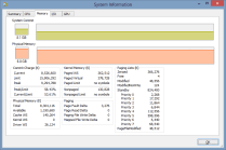 Process Explorer - System Information - Memory
