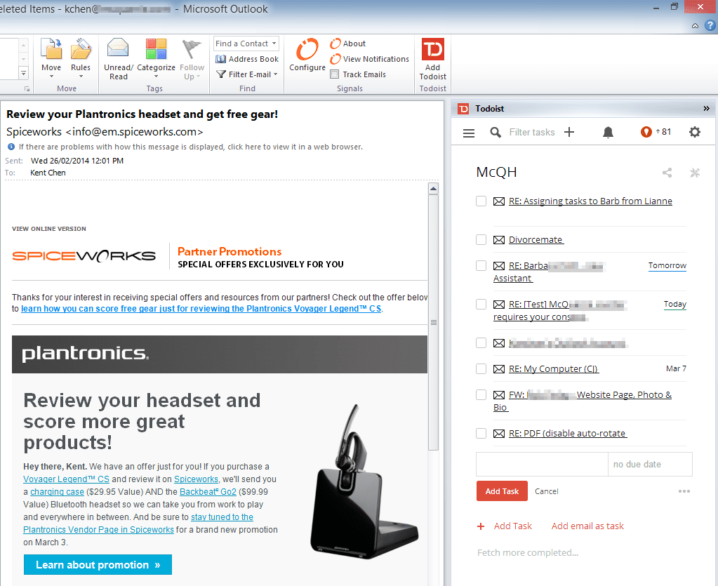 Todoist Now Integrates Seamlessly into Outlook - Next of Windows