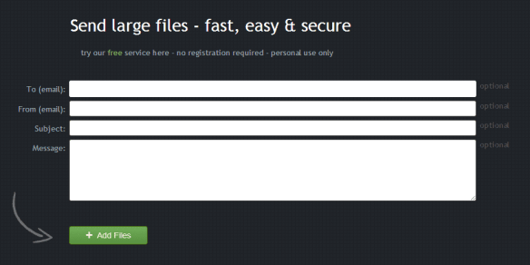 Filemail.com file transfer form