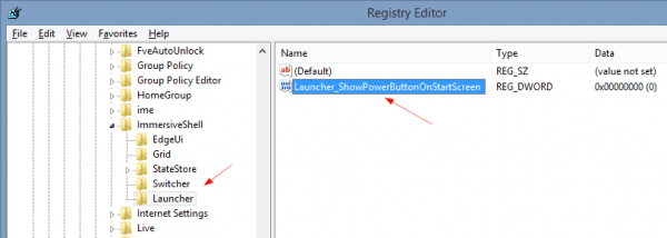 Registry Editor 2014 04 22 11 06 05 600x214 - Windows 8.1 Tip: Toggling the Power Button on Start Screen