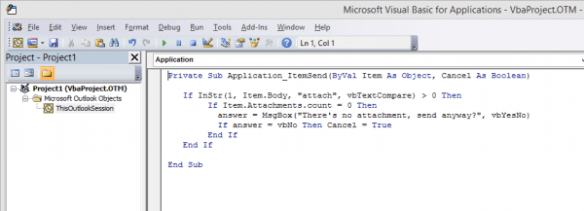 Microsoft Visual Basic for Applications - VbaProject.OTM - [ThisOutlookSession ( - 2014-07-03 15_55_28