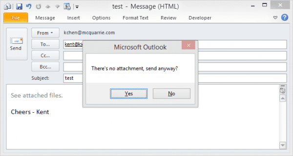 Outlook attachment reminder1 600x321 - How To Get A Forgotten Attachment Reminder in Outlook