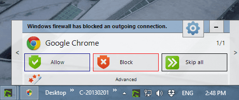 Windows Firewall Notifier to Control and Troubleshoot