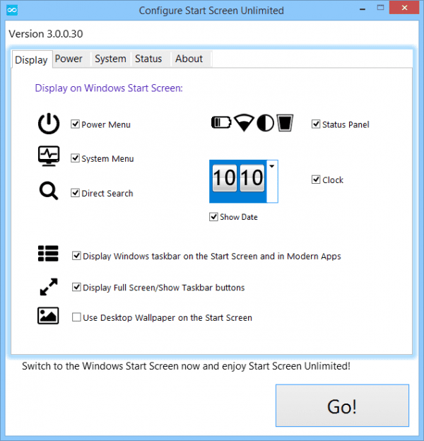 Configure Start Screen Unlimited 2014 09 26 15 39 29 600x624 - Adding Customizable Widgets To Windows 8 Start Screen
