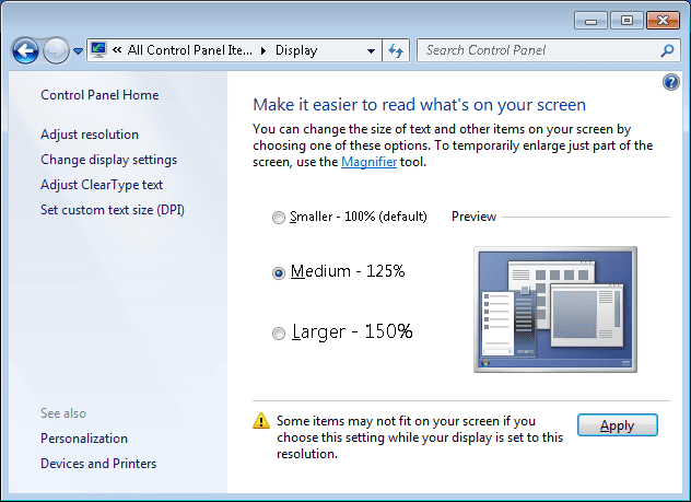 How To Change DPI Settings through A Remote Desktop Session
