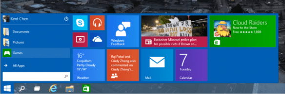 Windows 10 - Start Menu - resized