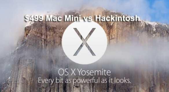 $499 Mac Mini vs Hackintosh