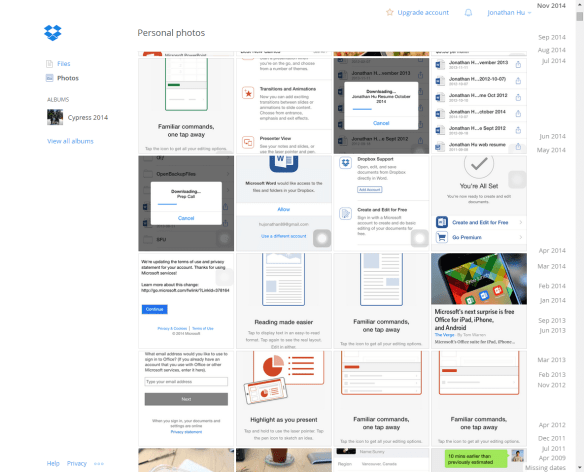 View Dropbox Photo Web Client