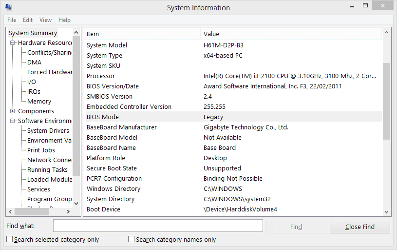 How To Tell If My Windows 10 is Installed on UEFI or Legacy