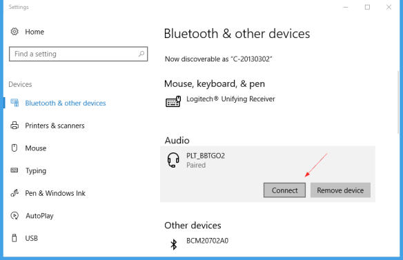 Windows 10 Settings Bluetooth Connect button 600x387 - Where is the Bluetooth Connect Button in Windows 7, 8, and Windows 10