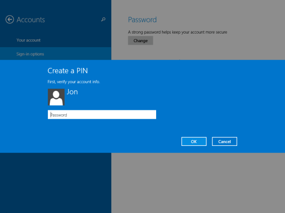 Windows 8.1 4-digit-pin
