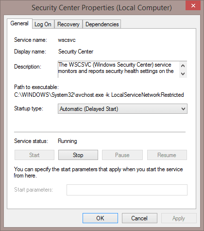 """How To Fix """"The Windows Security Center service can't be"""