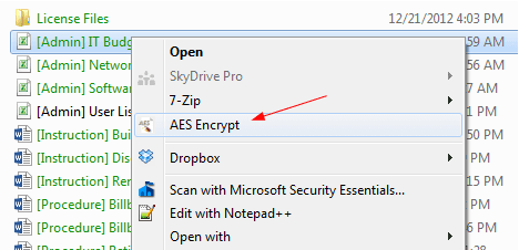 Encrypt and Decrypt Files Directly from Right-Click Context Menu with AES Crypt  - 2015-02-06 14_00_22