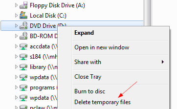 Delete from context menu