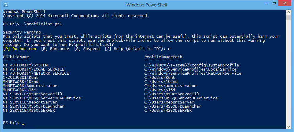 PowerShell get user profile list with account name - How To Get the List of User Profiles on Local and Remote  Computer