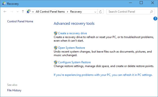 Windows 10 Recovery