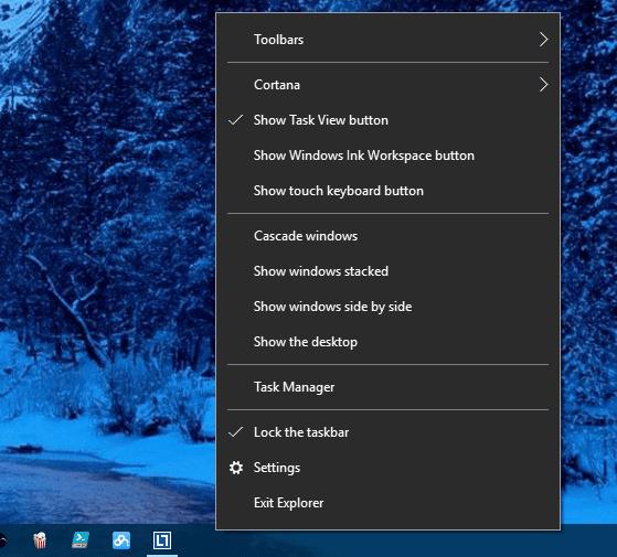 Windows 10 - hidden Exit Explorer menu