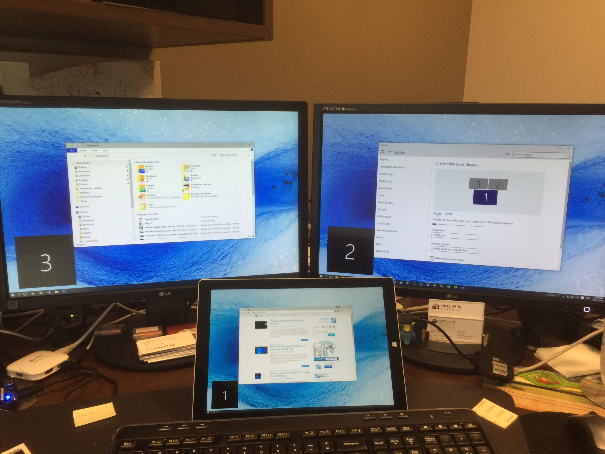 How To Use Surface Tablet or Any Laptop as Second Monitor in