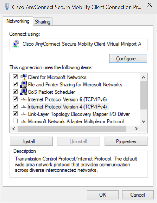 Fix Cisco AnyConnect Client Connection Issue in Windows 10