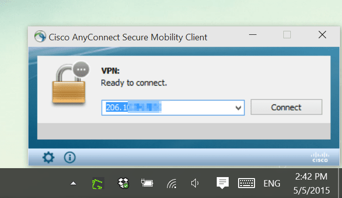 Cisco AnyConnect - Cannot Connect To Vpn Windows 10