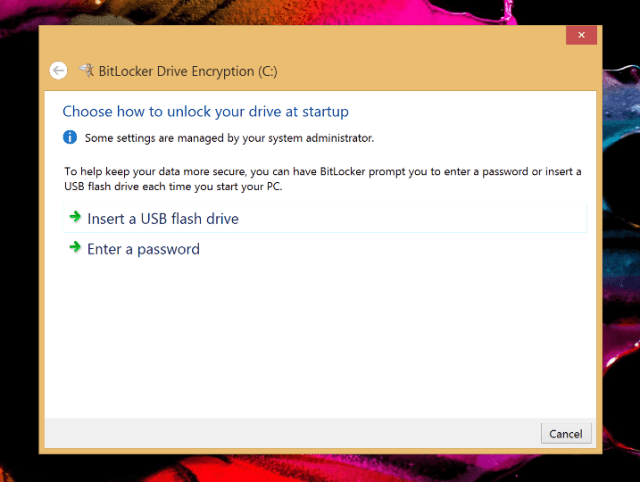 Turn on BitLocker - Enter a password