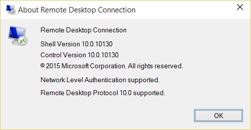 About Remote Desktop Connection 2015 06 13 22 16 52 - Zoom Option in Remote Desktop Protocol 10