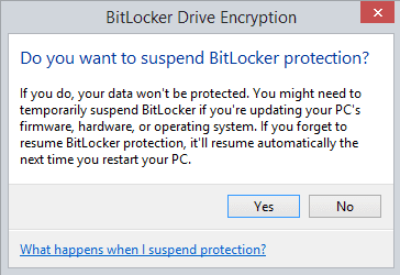 BitLocker Drive Encryption-Suspend Protection-confirmation