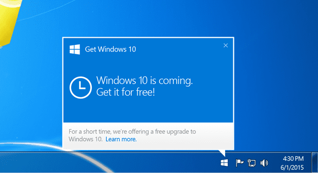 windows 10 upgrade via windows 7 thumb - Windows 10 Available on July 29, Reserve Your Free Copy Now