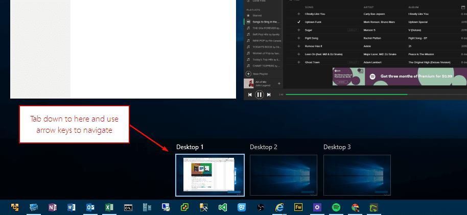 Keyboard Shortcuts Guide for Virtual Desktop in Windows 10