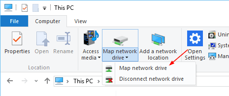 File Explorer This PC Map Network Drive - Placeholders are Gone from OneDrive in Windows 10, What To Do?