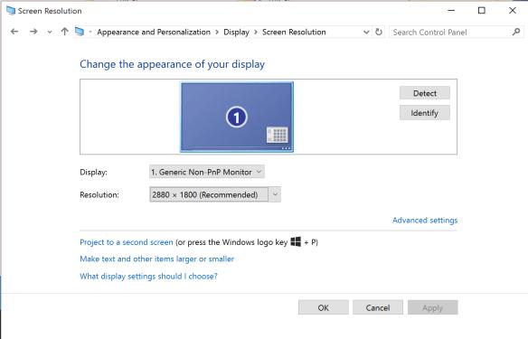 Windows 10 High DPI Screen Resolutions