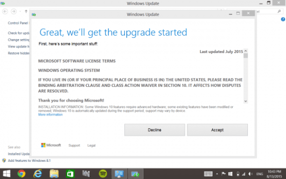 Upgrade to Windows 10 HP Stream 7