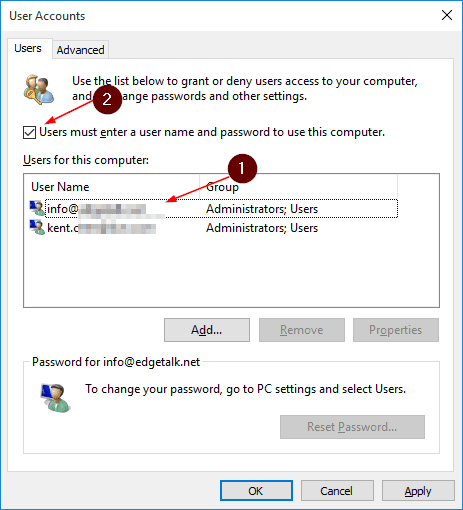 How To Auto Logon To Windows 7, 8 1, and 10 Without Typing