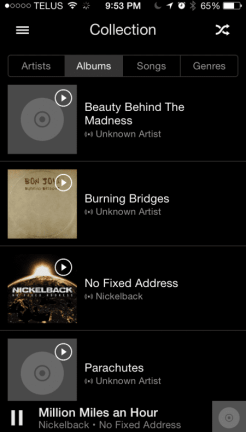 Groove Music on iPhone