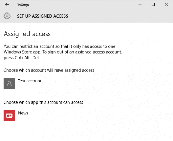 Settings set up assigned access 600x489 - What is Assigned Access and How To Set it Up in Windows 10