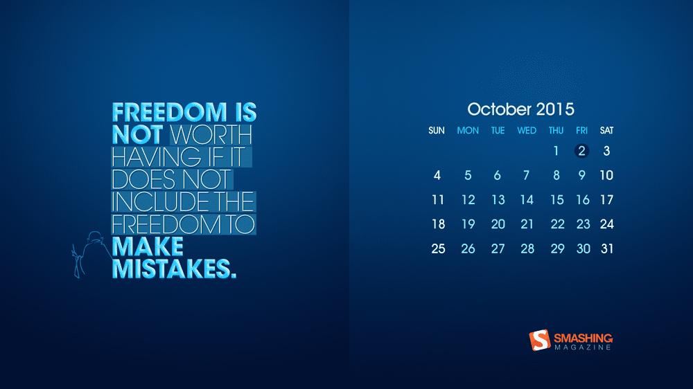 Download Smashing Magazine Desktop Wallpaper Calendar October 2015 Windows 7 8 10 Theme Next Of Windows