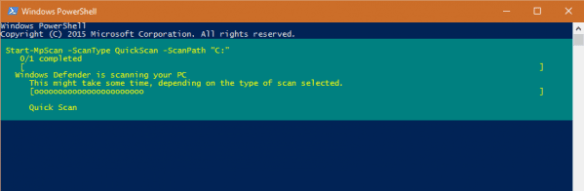 PowerShell - Run Quick Scan using Defender