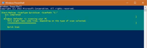 PowerShell - Run Quick Scan using Defender