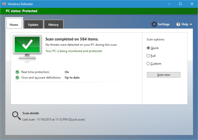 how to scan windows 10