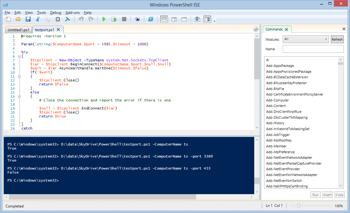 A Simple Network Port Scanner in PowerShell - Next of Windows