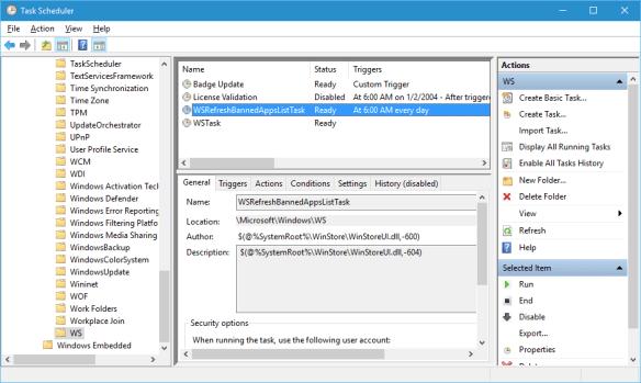 Task Scheduler - windows - ws -refresh task