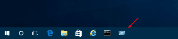 The Run command box on Taskbar